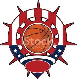 USA Basketball Logo Clipart Image.