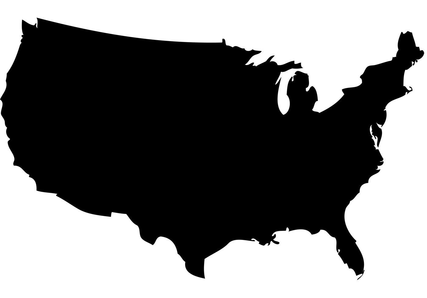 United States Outline Clipart.