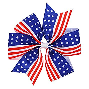 Amazon.com: ADSRO American Flag Hair Clip, July 4th U.S..