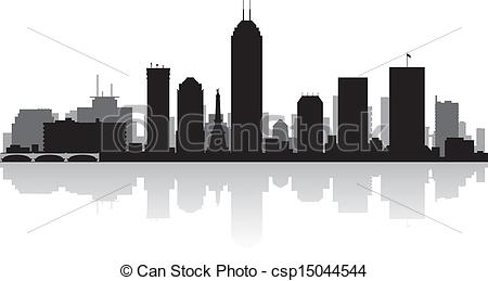 Indianapolis downtown Vector Clip Art Illustrations. 24.