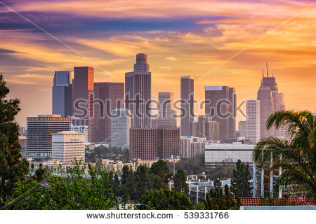 Downtown Los Angeles Stock Photos, Royalty.
