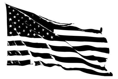 Usa flag clipart black and white 2 » Clipart Station.