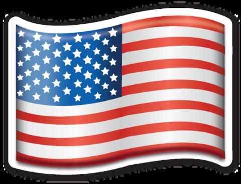 Flag of USA.
