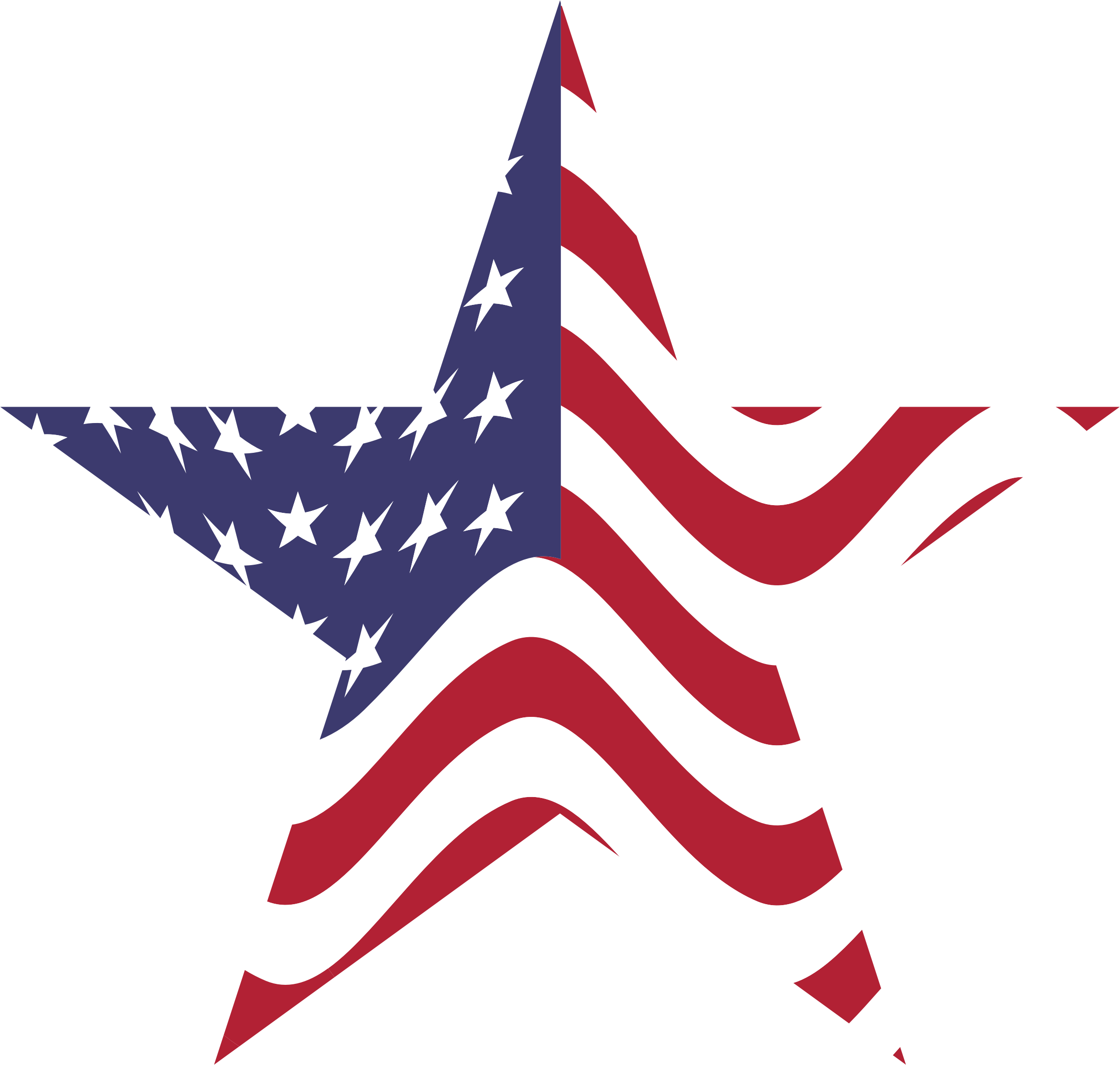 Usa Flag Inside Shamrock Clipart.