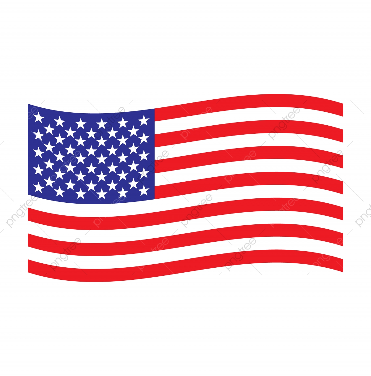 Wavy Usa Flag, Flag, American, Usa PNG and Vector with.