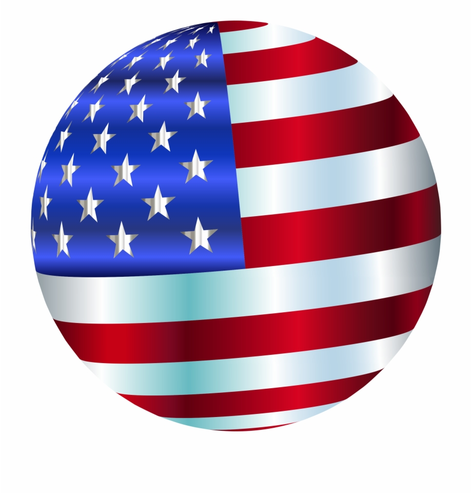 This Free Icons Png Design Of Usa Flag Sphere Enhanced.