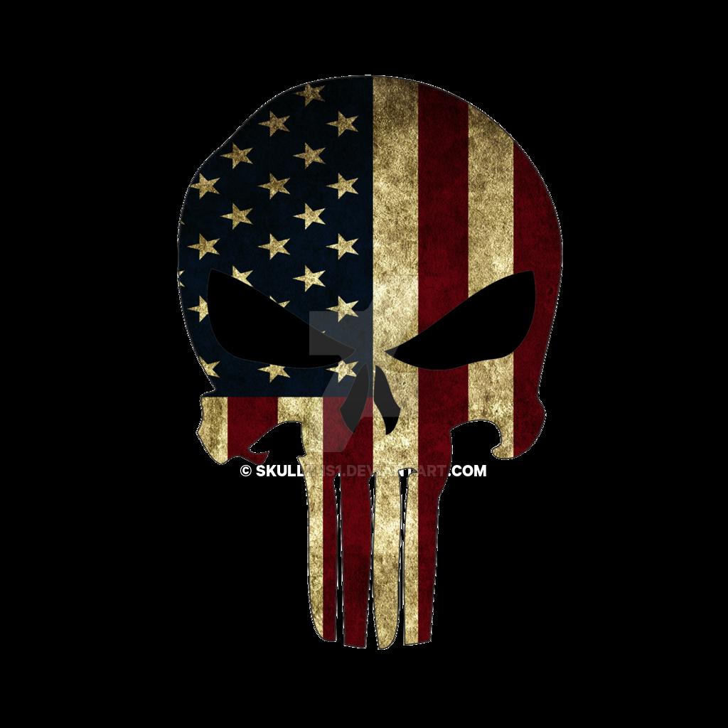 American Flag Punisher Skull Png & Free American Flag.