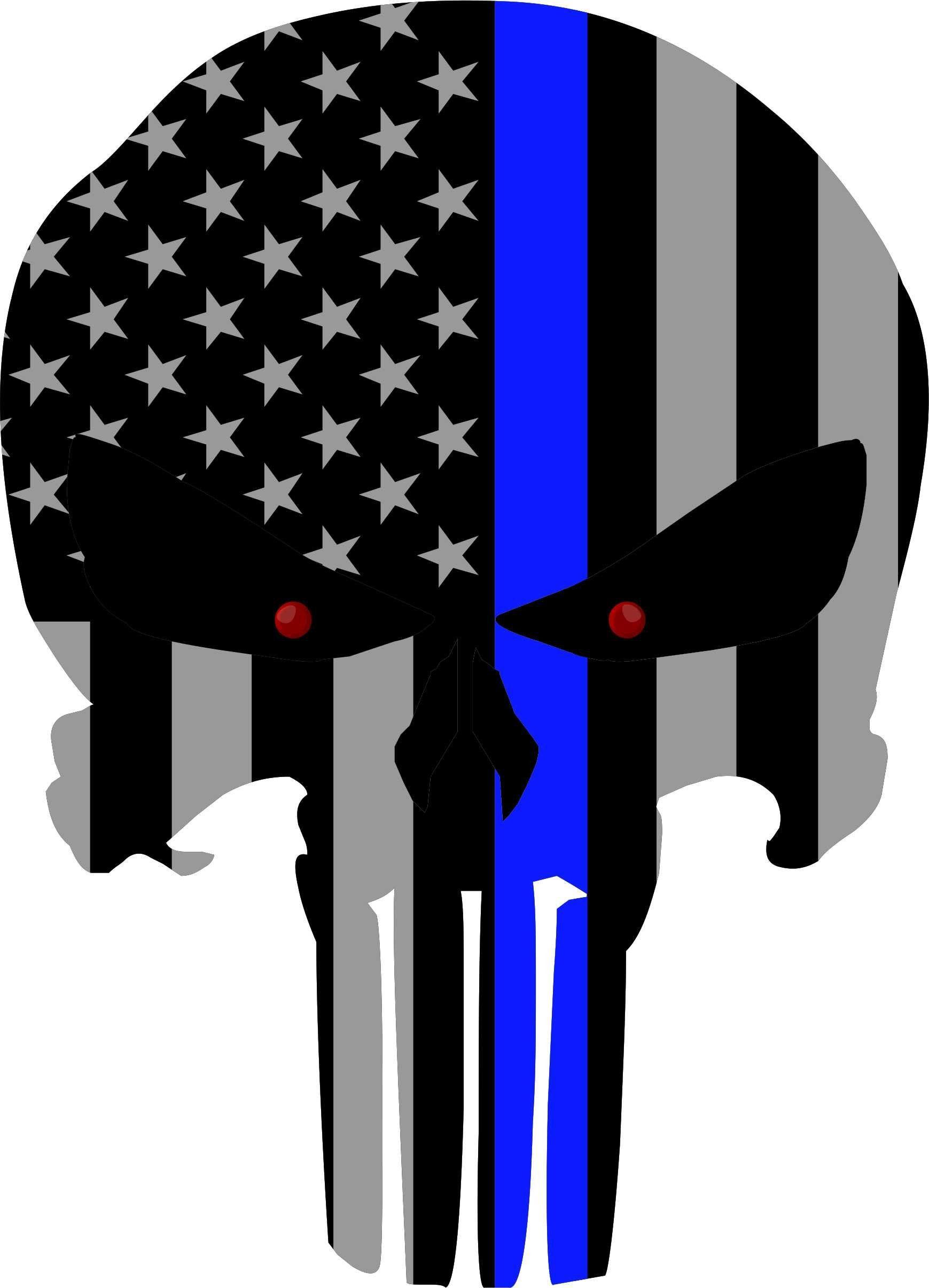 Amazon.com: Subdued US Flag Punisher Skull Reflective Decal.