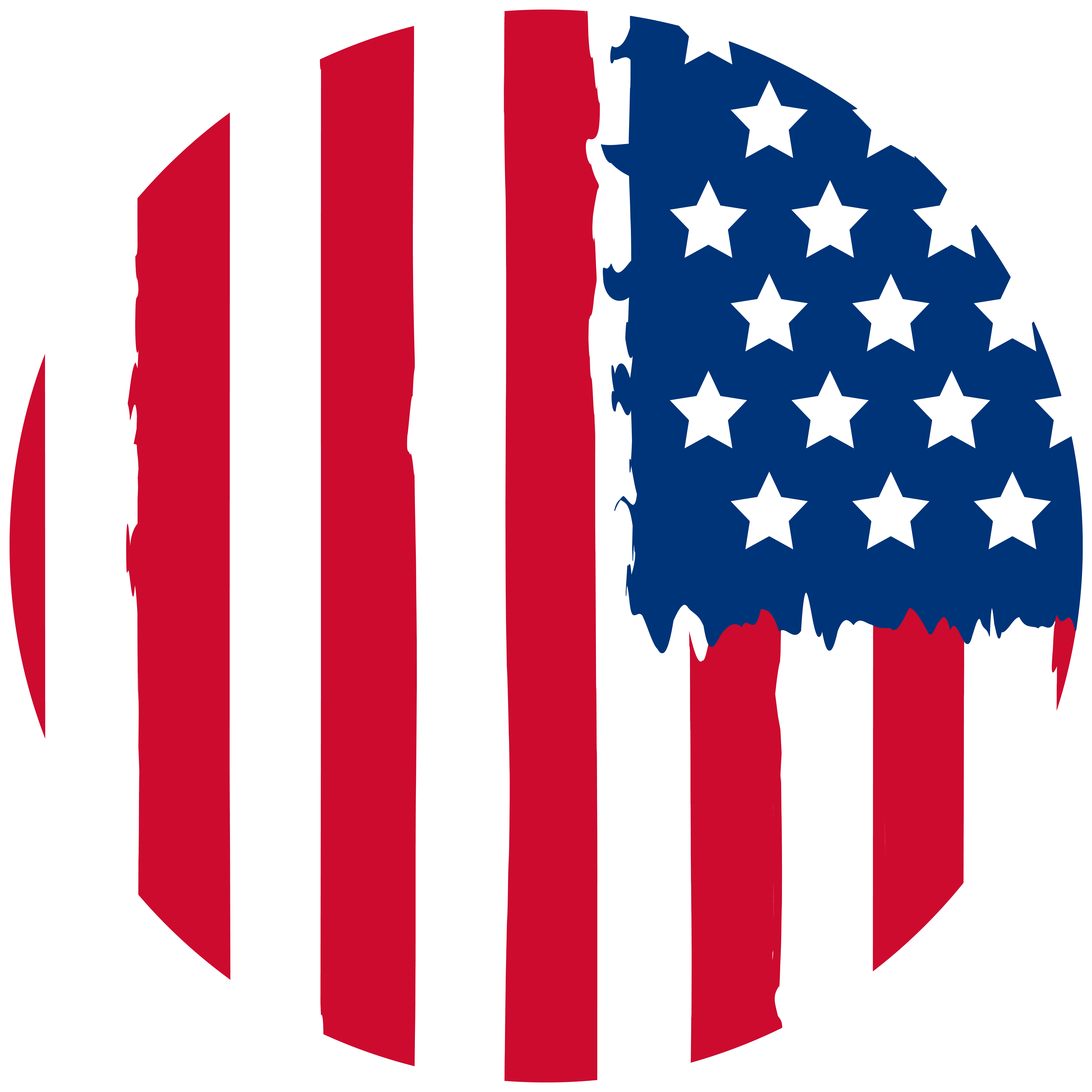 USA Flag Round Decoration PNG Clipart.