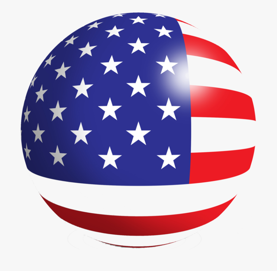 American Flag Png Round.