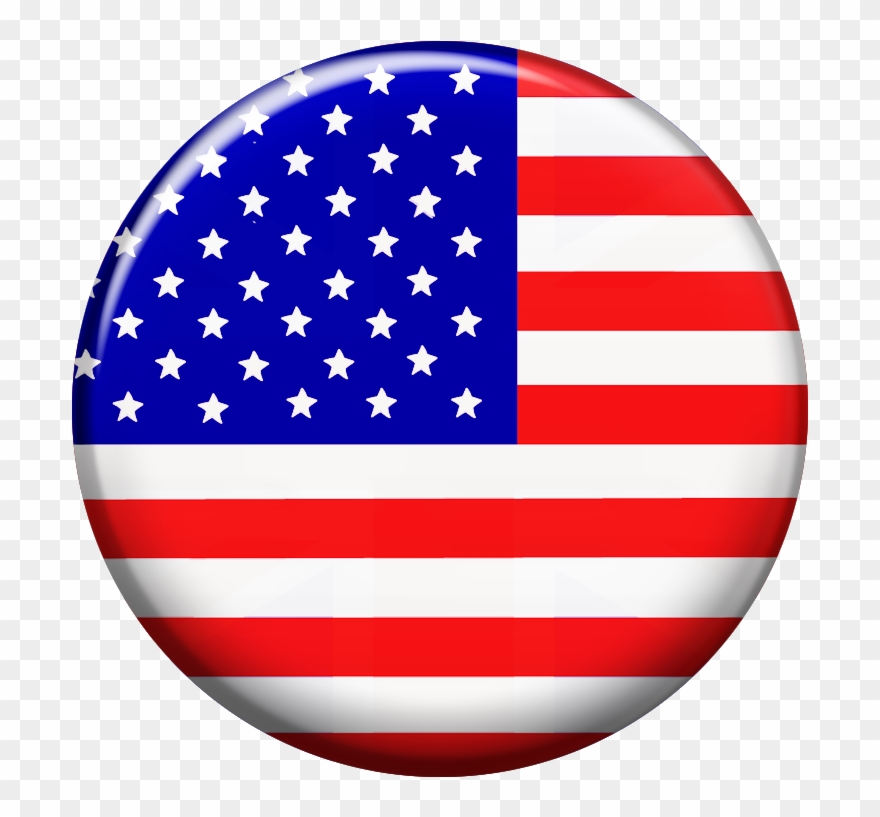 Round American Flag Clipart (#1456028).