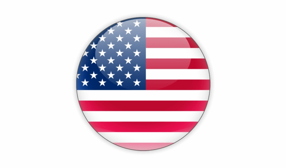 Usa Flag Round Icon, Transparent Png Download For Free.