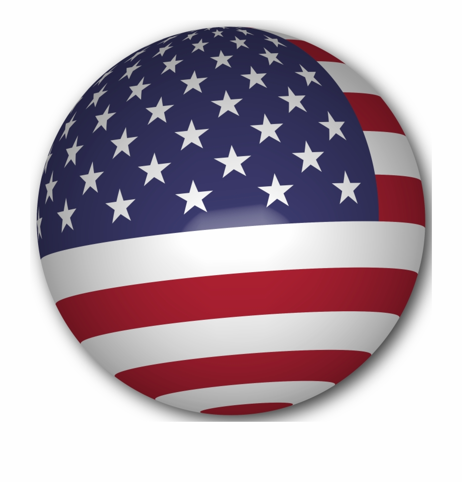 This Free Icons Png Design Of Usa Flag Sphere.