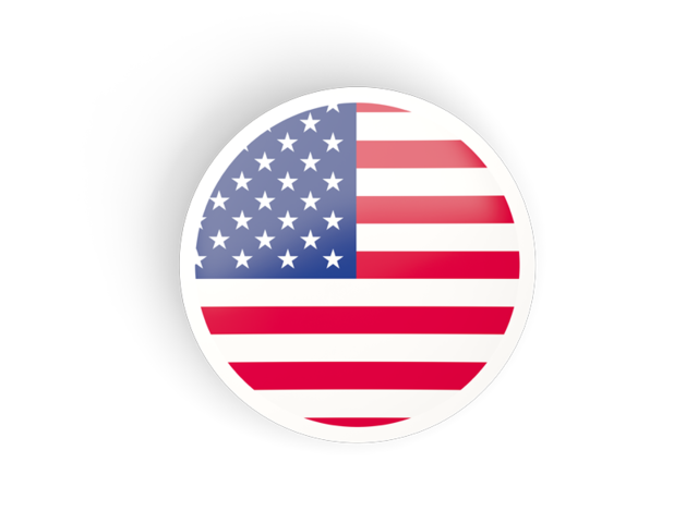 Round concave icon. Illustration of flag of United States of.