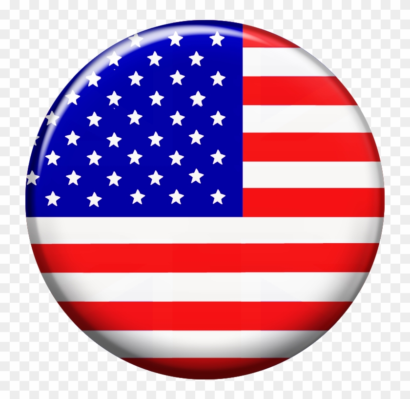 Round American Flag Clipart , Png Download.
