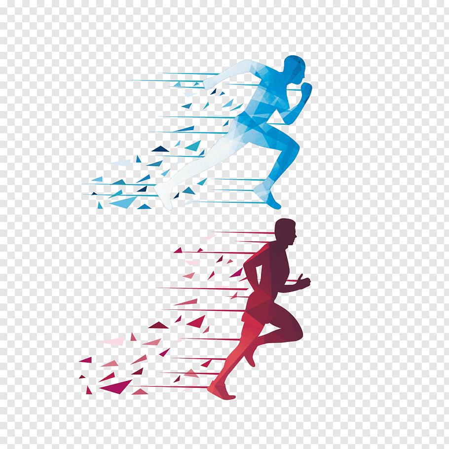 Running Euclidean Icon, man running, man running illusration.