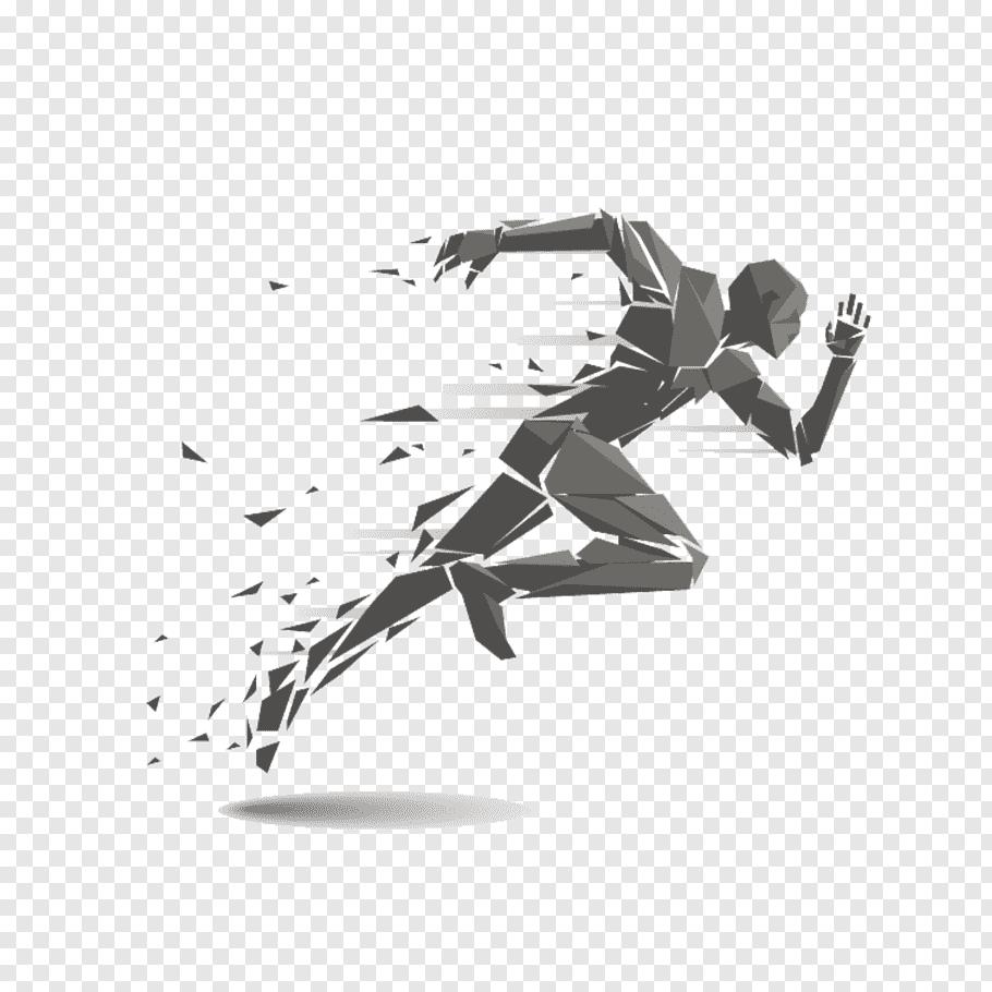Running man illustration, Running Track and field athletics.