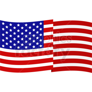 american flag vector design clipart. Royalty.