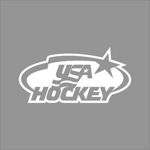 Details about Team USA Hockey Logo 1Color Vinyl Decal Sticker Car Window  Wall.