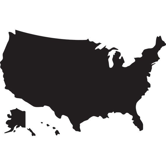Usa map svg silhouette clipart.