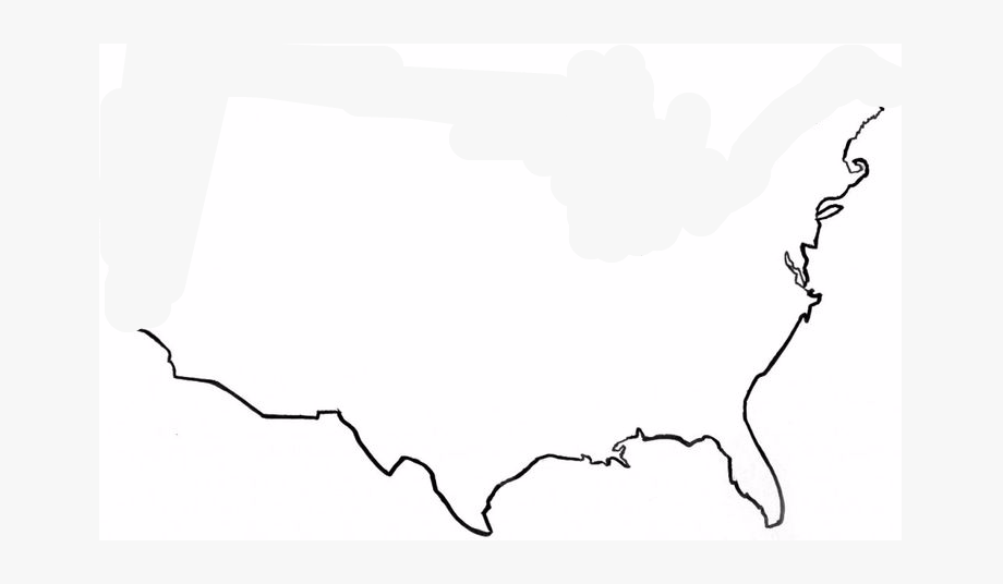United States Map Outline.