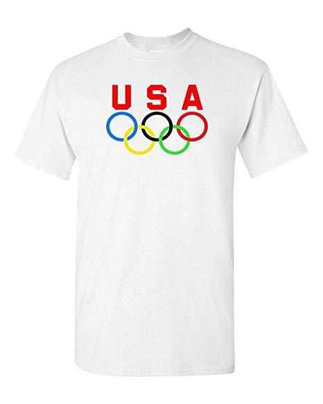 Olympic Rings USA Logo T.