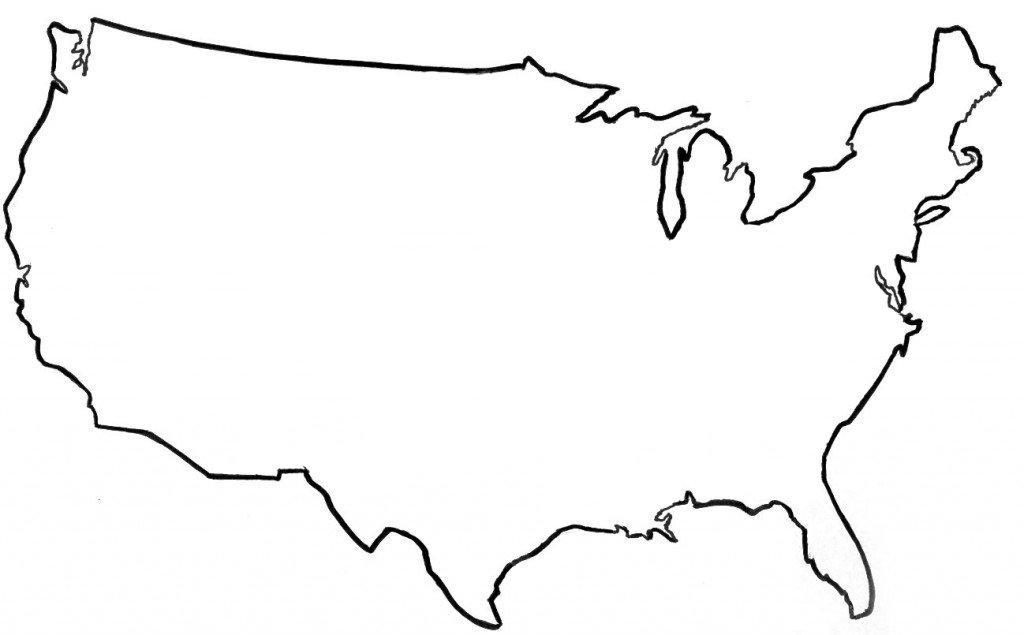 Usa Map Outline. Usa Map Outline. Usa Map Outline Printable. Usa ...