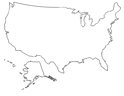 Download Free png USA outline.