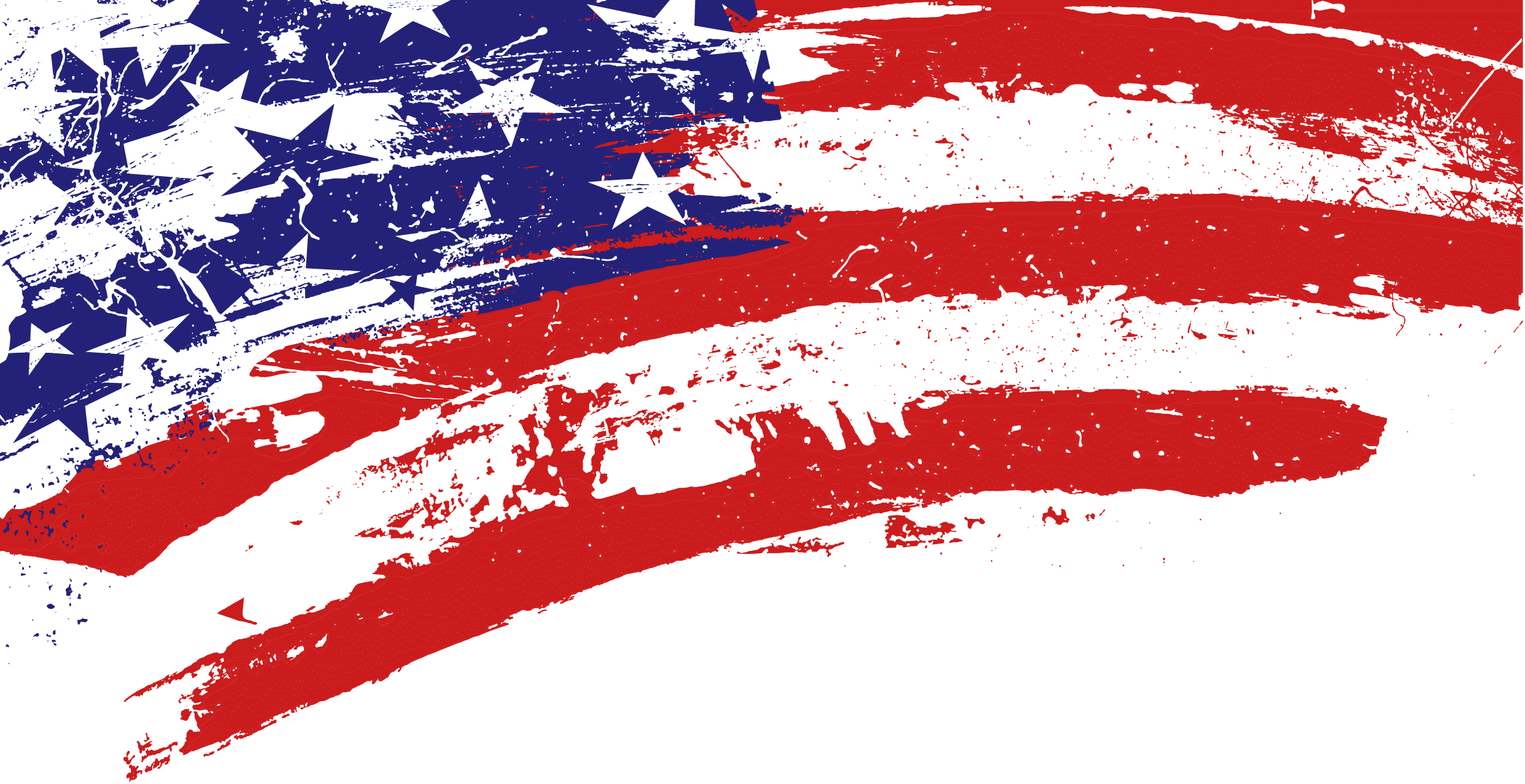 Corner Scratch American Flag transparent PNG.
