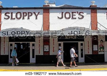 Picture of Key West Florida USA Duval Street famous Sloppy Joe's.