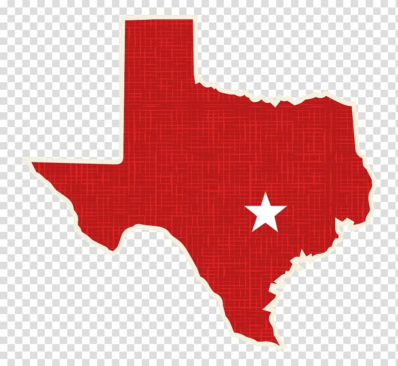 Texas Map Silhouette, solution map transparent background.