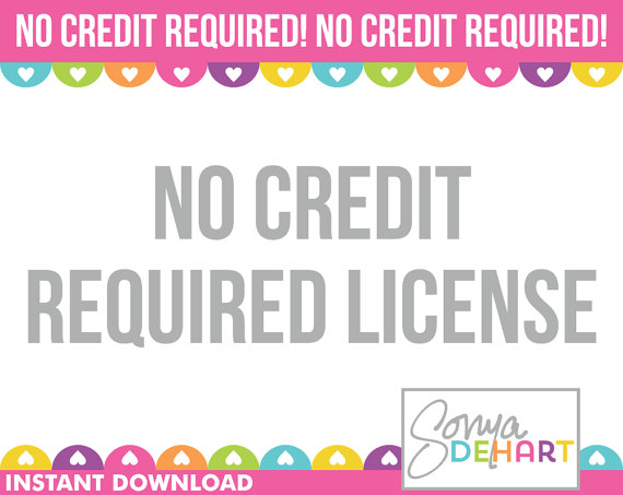 No Credit Required Commercial Use Clipart License Usage Sonya.