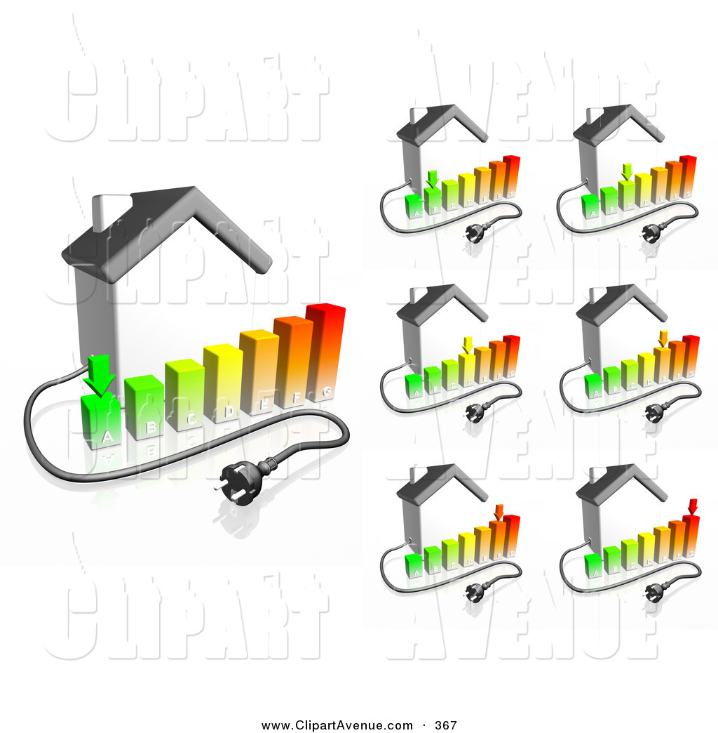 Avenue Clipart of Electrical Cables Coming from Home with Bar.