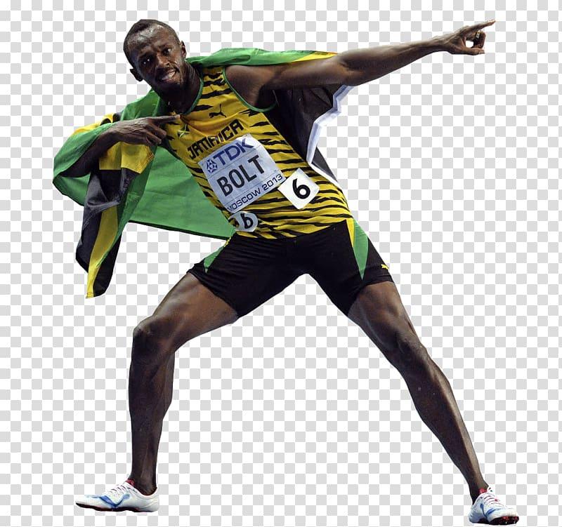 Sport Athlete Sticker Bolt, usain bolt transparent.