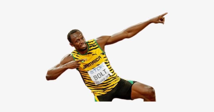 Usain Bolt Lightning Pose Beijing.