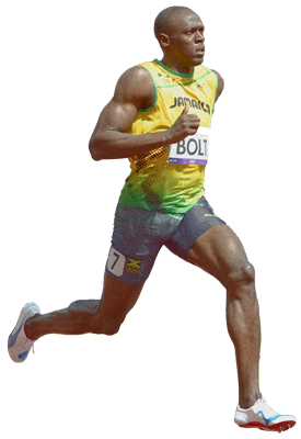 Download USAIN BOLT Free PNG transparent image and clipart.
