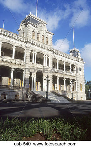 Stock Photography of Iolani Palace Oahu Hawaii USA usb.