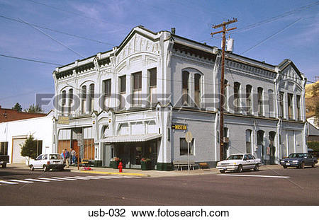 Stock Photo of Small Town Corner Store Pomeroy Washington State.