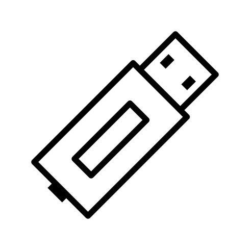 USB Line Black Icon.