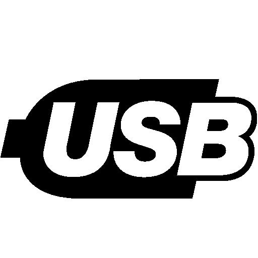 Computer Hardware Usb Logo Icon.