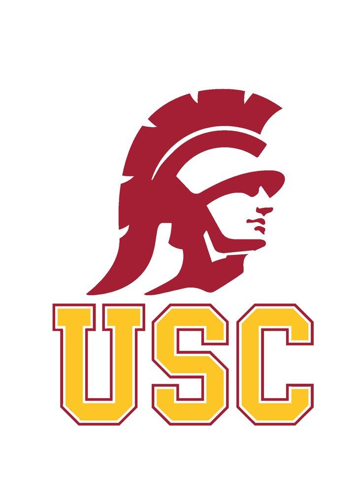 USC Trojans stencil logo.