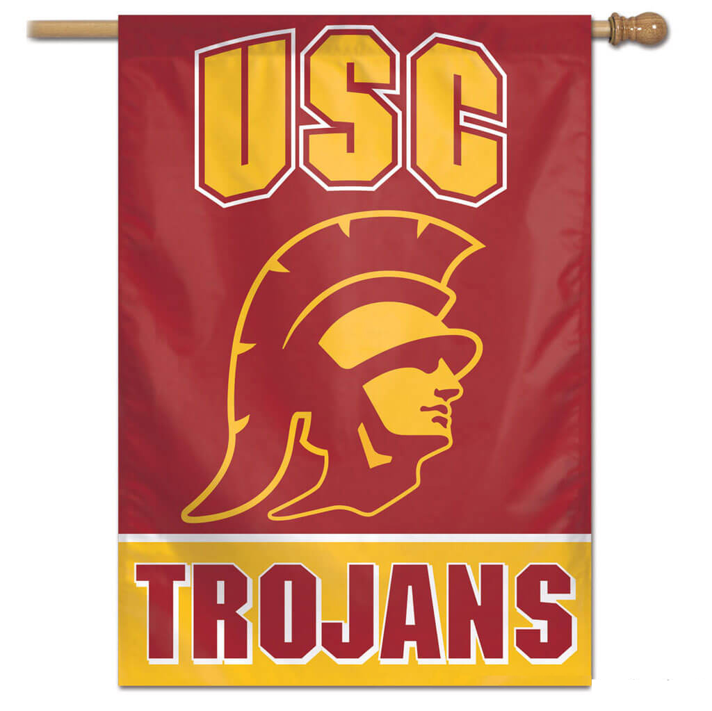 USC Trojans Logo House Banner (28 in x 40 in) Polyester.