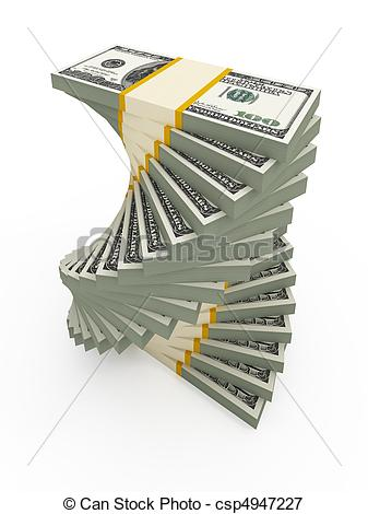 Stock Illustrations of Spiral USD stacks.