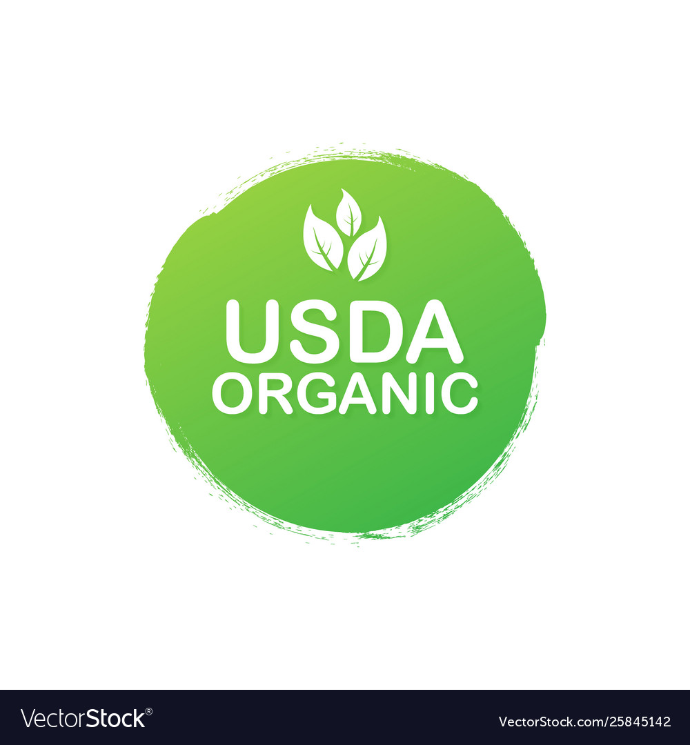 Usda organic emblems badge sticker logo icon.