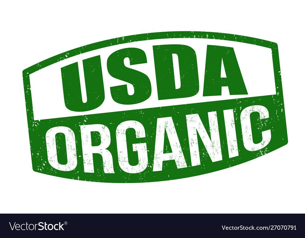 Usda organic sign or stamp.