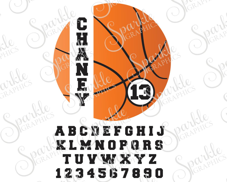 Basketball Monogram Cut File Basketball SVG Personalized.