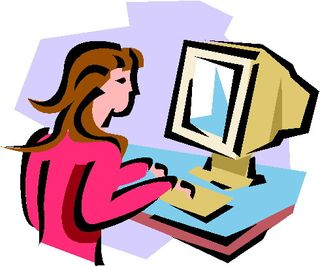 Person Using Computer.