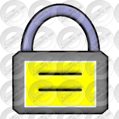 Lock Picture for Classroom / Therapy Use.