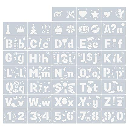 Amazon.com: Migavan 38PCS Letters Numbers Patterns Drawing.