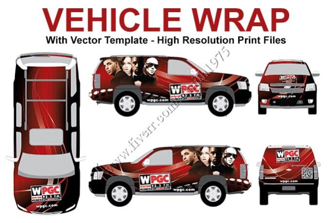 designing a attractive vehicle wrap.